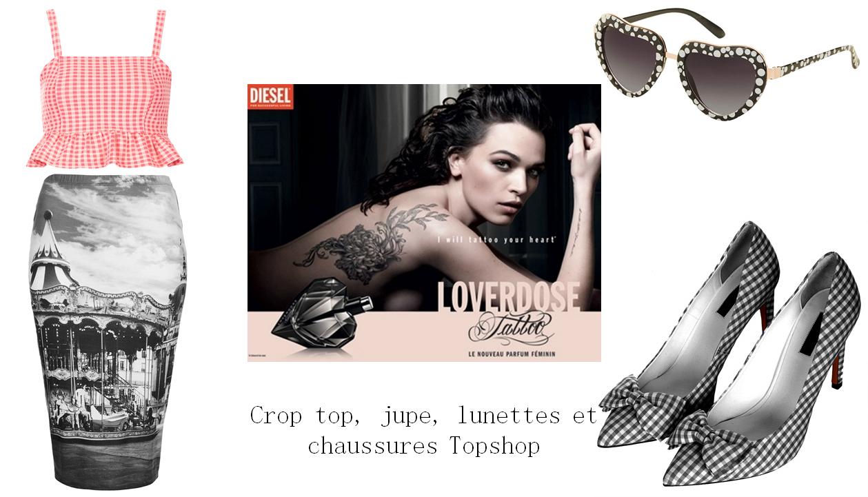 Look parf Diesel Loverdose tattoo