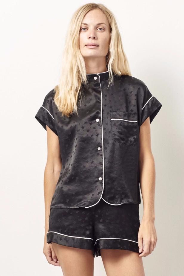 KACEY Silk short sleeve tap set BLACK STAR