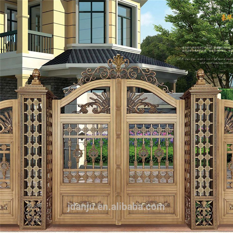 Indian house main gate designs with Aluminum Gate model AJLY-602 ...