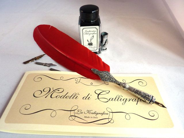 Italian Stationery Calligraphy Large Feather Quill Pens