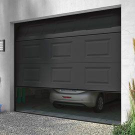 Porte De Garage Sectionnelle Motorisee Turia Anthracite En Kit Porte De Garage Sectionnelle Porte Garage Garage
