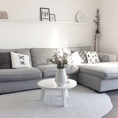 ikea woonkamer kivik - Cerca con Google | Gray living room ...