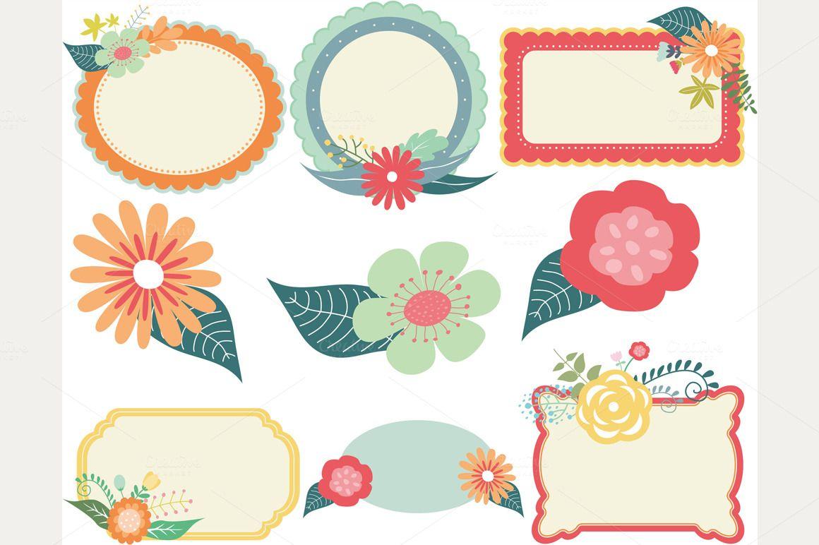 vintage flower frame vector png - Google Search | vintage ...