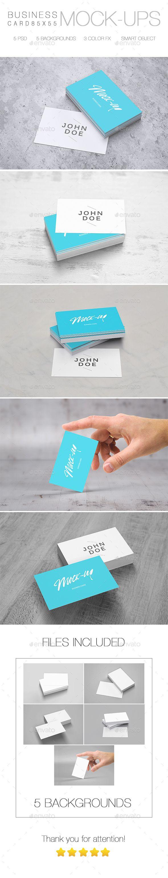 Business card mockup 85 x 55 reheart Choice Image