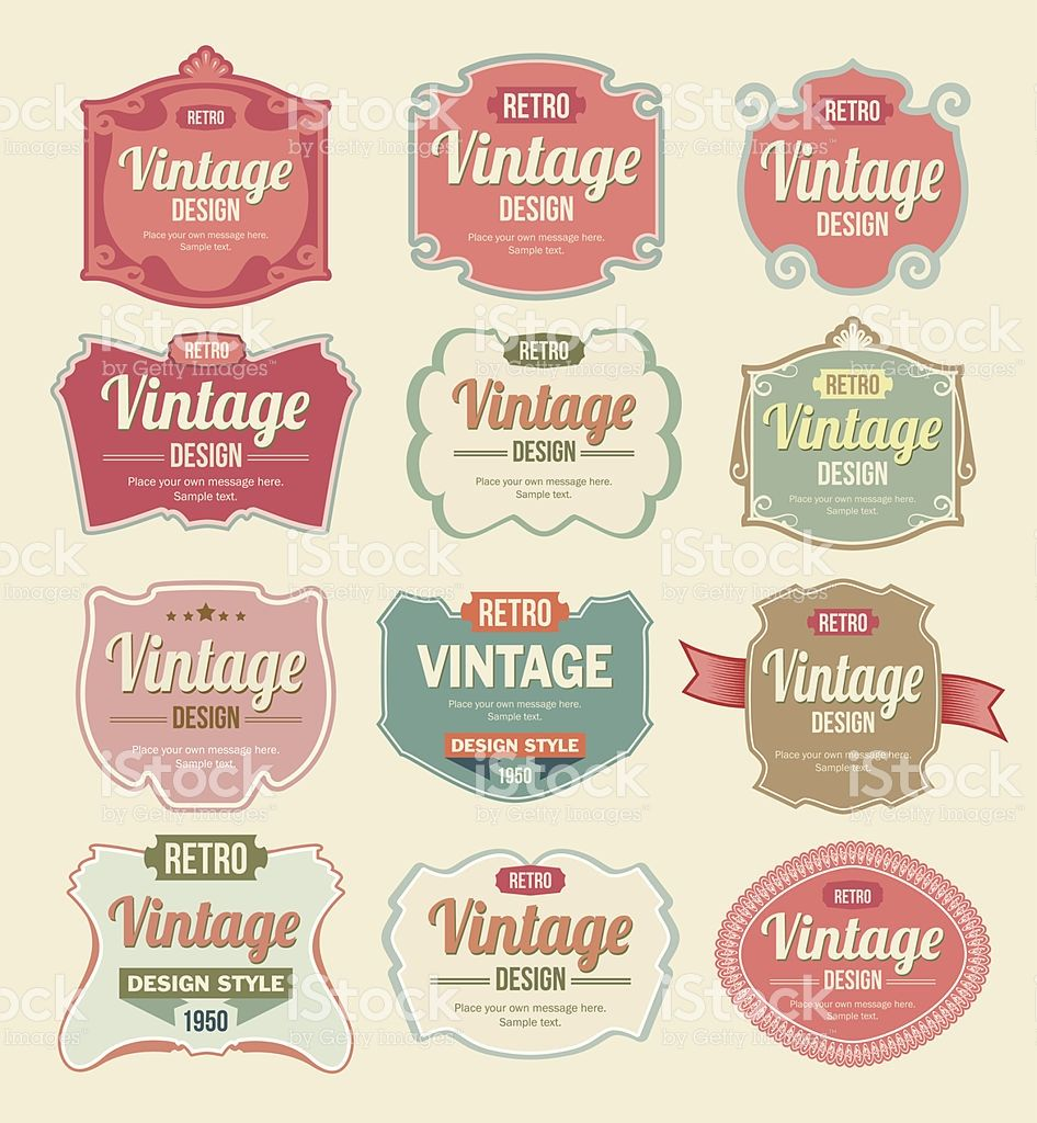 Vintage Labels A Set Of Retro Style Vector Labels Eps 8 File With Vintage Labels Retro Vintage Retro