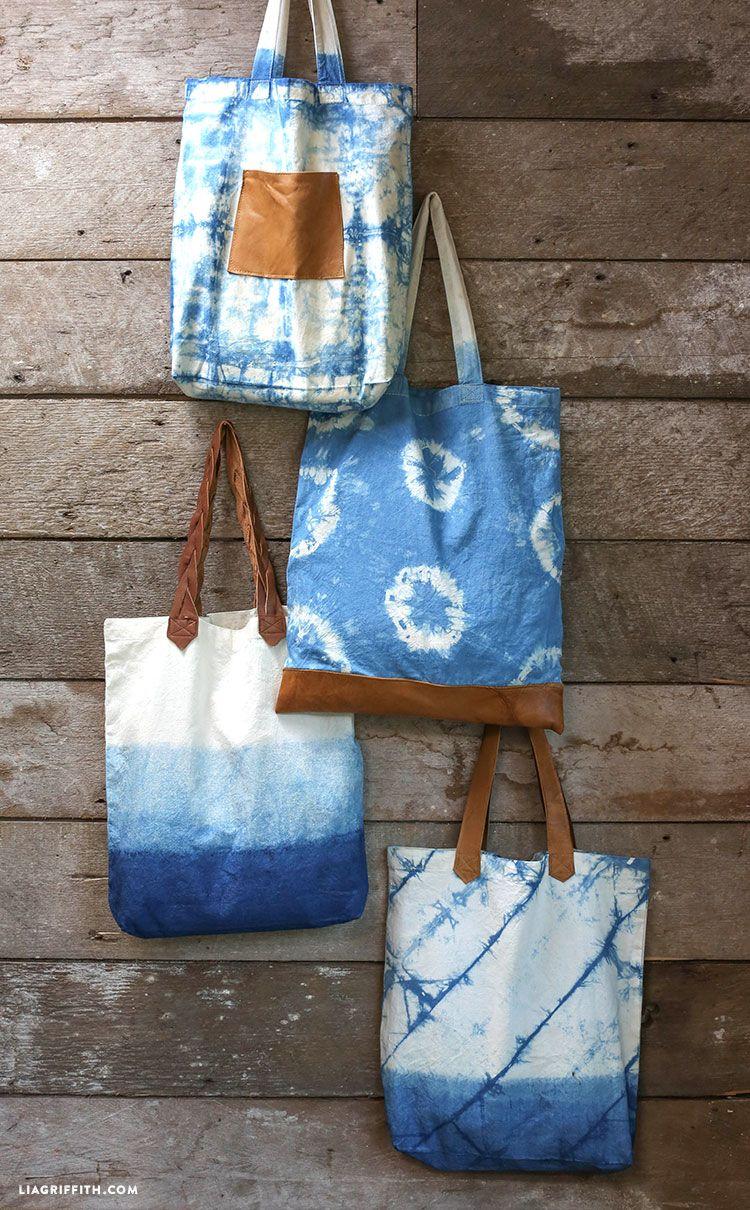0c5296ad4140 Japanese Indigo Dye Tote Bags