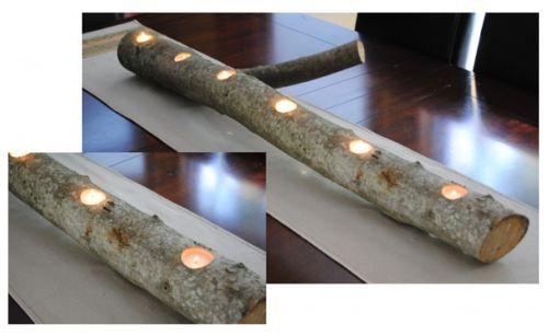 Log Candle Centerpiece [SOURCE]