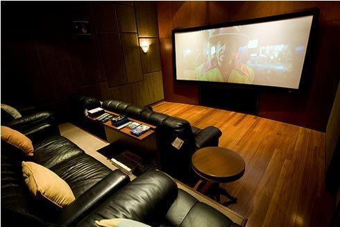 Grand Media Room Home Theater Rooms Home Theatre Interior