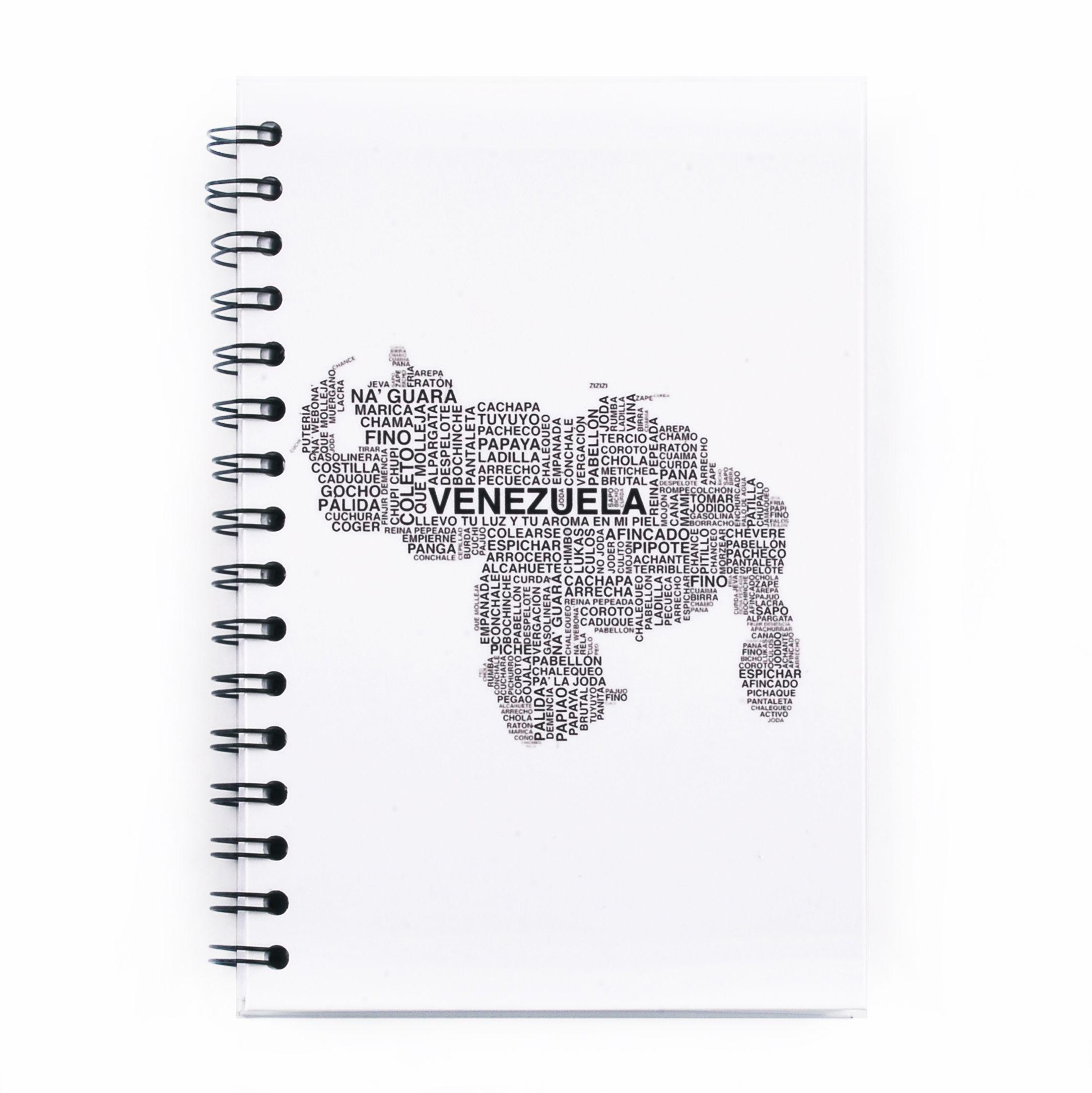 Identidad Venezolana. Chevere, fino, na guara, que molleja, bicho, lacra, estas son algunas de las palabras venezolanas que podrás encontrar en esta increíble libreta que te acompaña a donde estés.