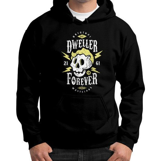 Dweller Forever Gildan Hoodie (on man)