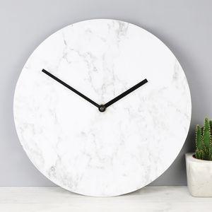 Marble Effect Wall Clock Wall Clock Clock Cute Clock