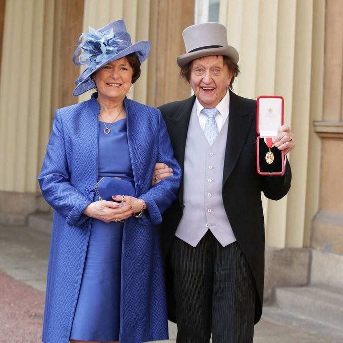 Ken Dodd...Sir Ken married Anne Jones, his partner of 40 years, just a few days before his death.