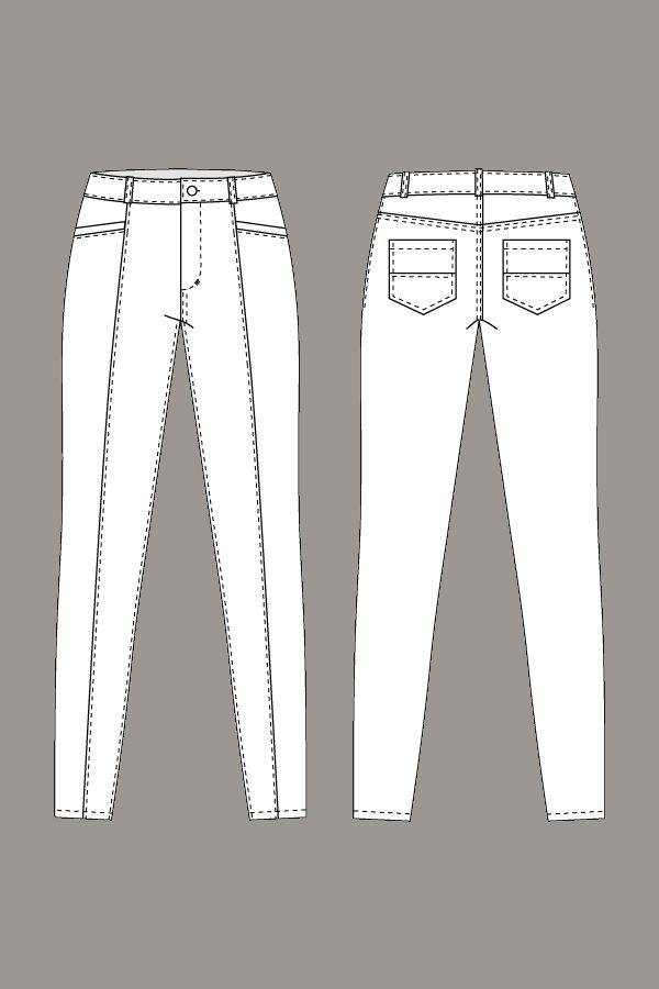 Jamie Jeans | sketches | Pinterest | Pantalones, Costura y Trazos