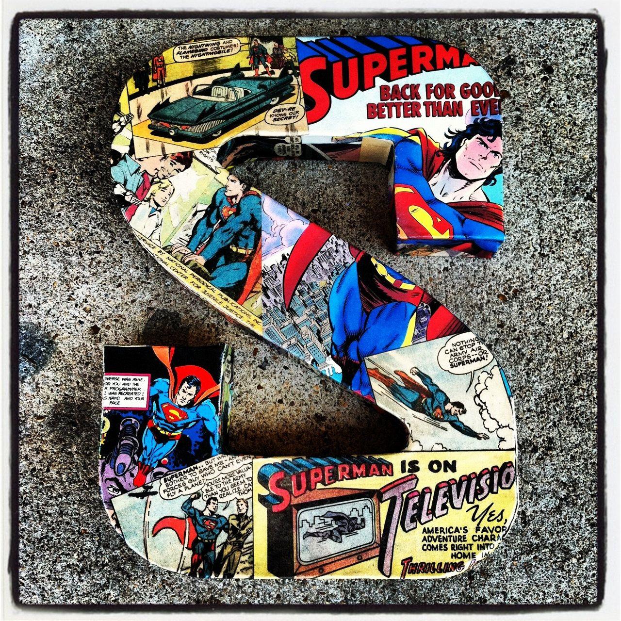 1 Medium Custom Comic Letter Vintage Superhero Featuring Avengers