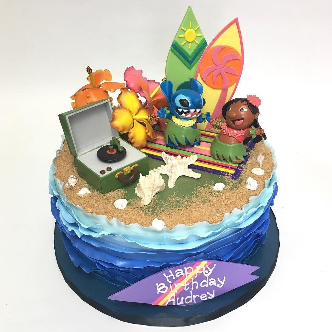 Stitch Amp Lilo Birthday Cake Deliciousarts Customcakes Custom Losangeles