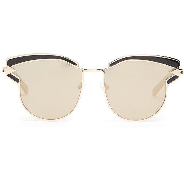 5c1167df24d Karen Walker Eyewear Felipe cat-eye sunglasses ( 255) ❤ liked on Polyvore  featuring