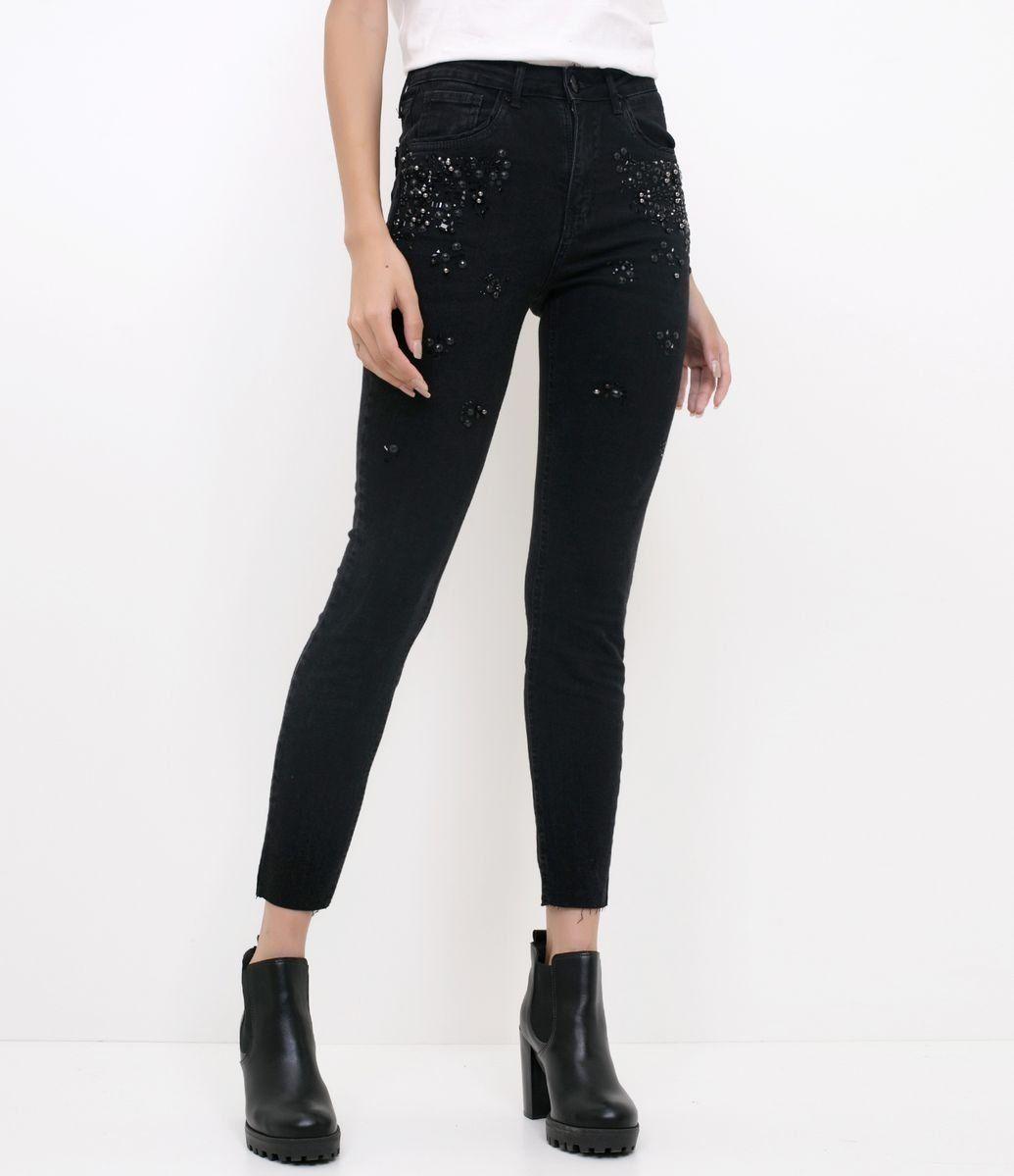 95eccc423 Calça Jeans Skinny com Bordado de Pedraria - Renner | Verão Renner ...