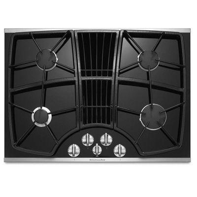 Kitchenaid Kgcd807xss 30 In Architect Ii 4 Burner Gas Cooktop Downdraft Exhaust Stainless Steel Cozinha Photoshop Texturas