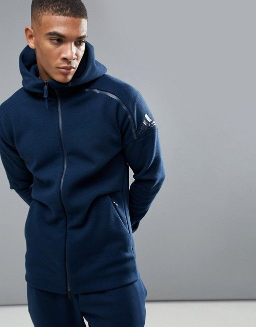promo code good texture buy cheap adidas Athletics ZNE 2 Hoodie In Navy Blue BQ6928 in 2019 ...