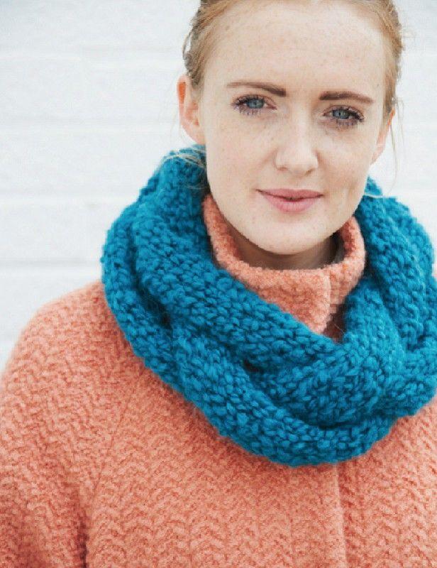 Debbie Bliss Plaited Cowl Free Patterns Pinterest Bliss Knit