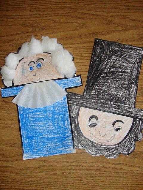 George Washington Abe Lincoln Kindergarten Social Studies