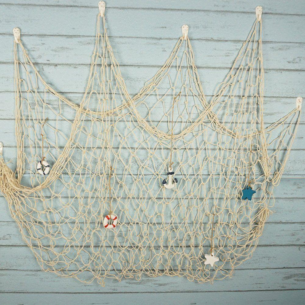 Rustic Nautical Decorative Fishing Net Fishing Net Wall Decor Fish Net Decor Hanging Wall Decor