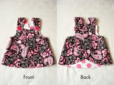 Girls Crossover Pinafore tutorial and free pdf pattern