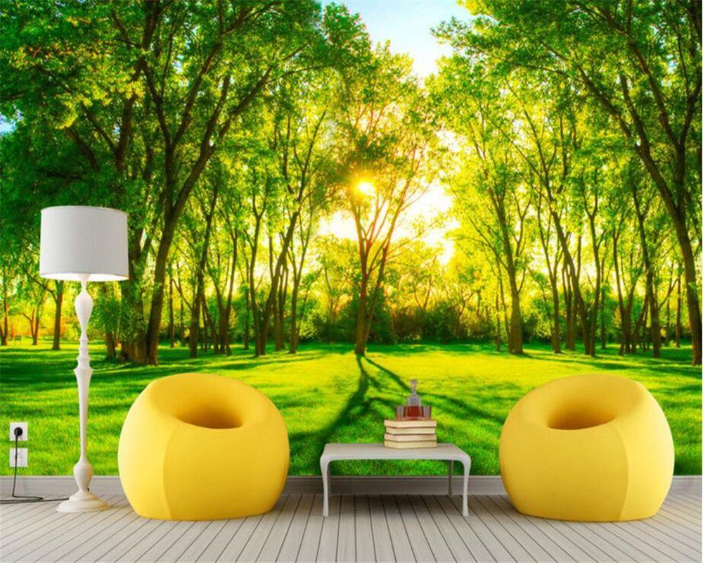 beibehang papel de parede 3d Nature view room bedroom decoration 3D ...