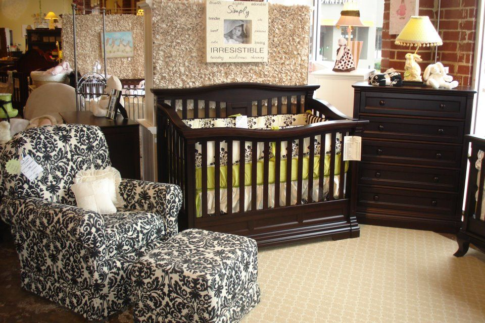 Imperio Crib And Chest In Bruno Rosso Shown With A Little Castle