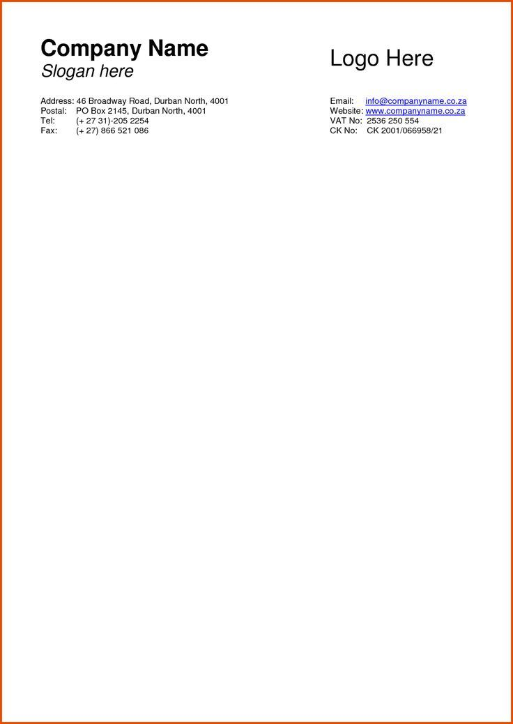 Letterhead Templates  Free Business Cards Sample Company