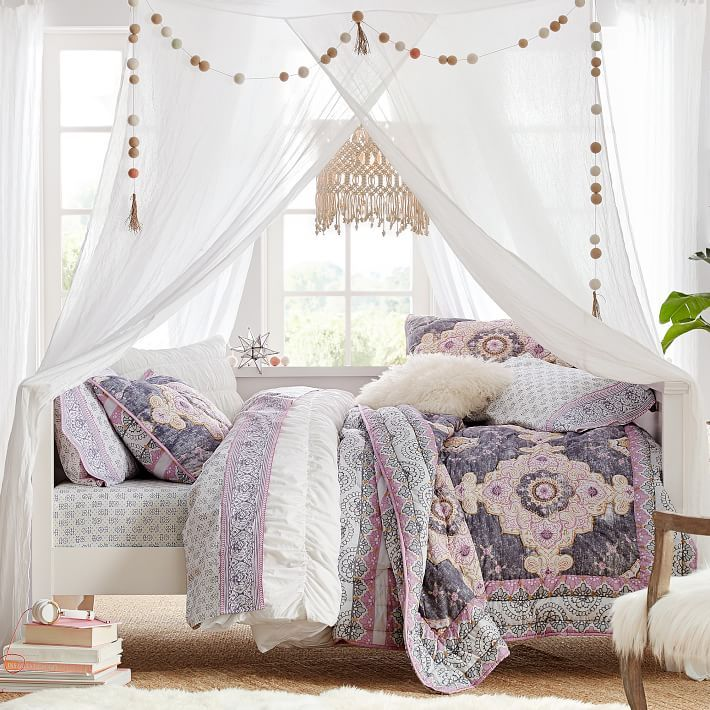 Bohemian Wonder Quilt + Sham Daybed, Bed, Shabby chic