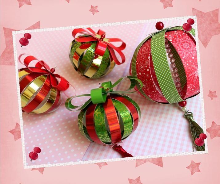 Weihnachtsdeko - 4 Paperballs Papierkugeln - ein Designerstück von…