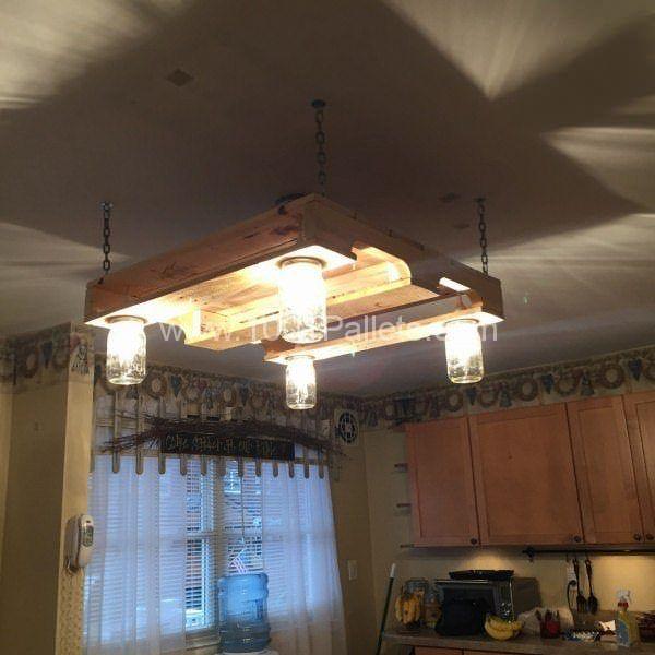 Pallet Wood Kitchen Light Pallet Lights & Lamps