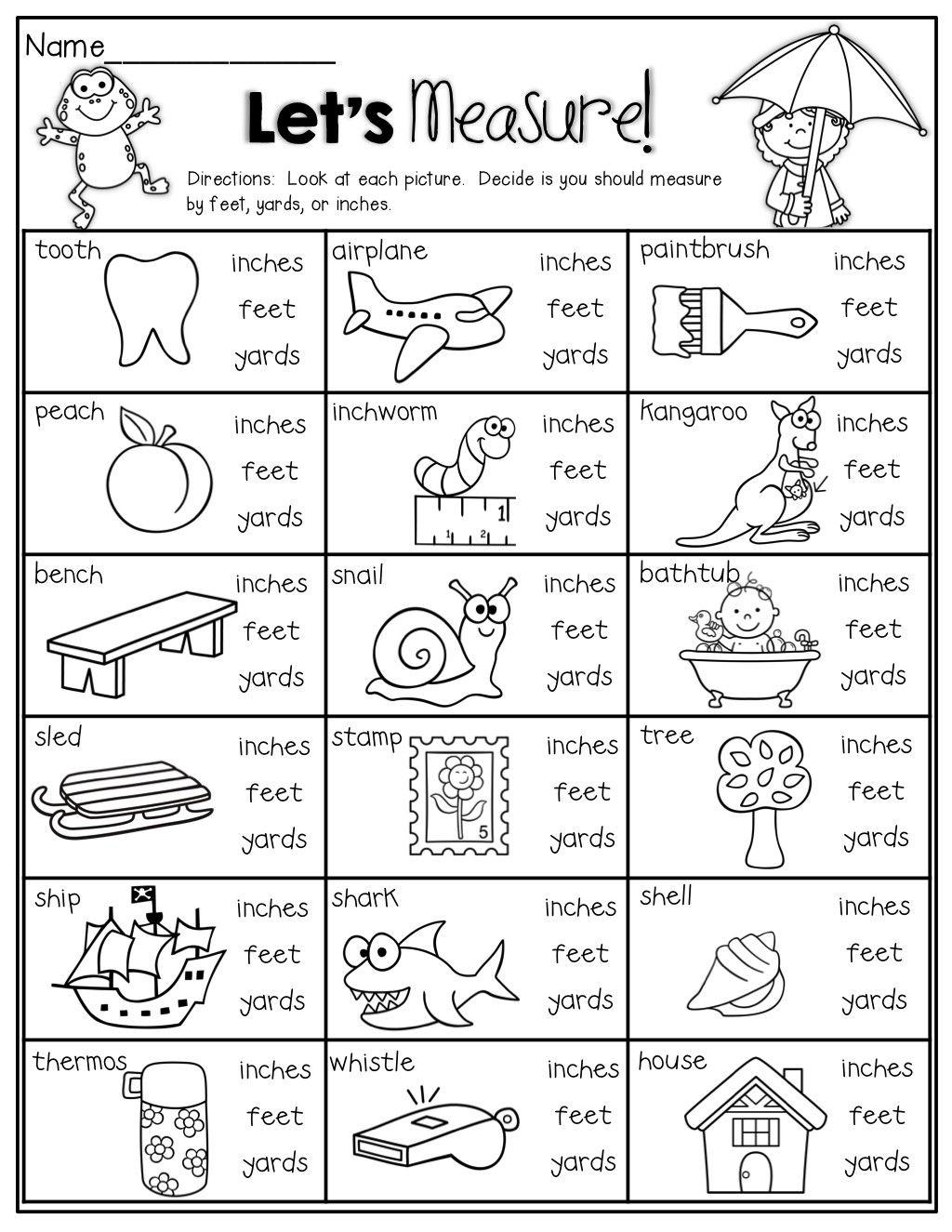 4 Worksheet Free Math Worksheets Second Grade 2 Measurement Convert Yards  Feet Inches Easy Le.…   Measurement worksheets [ 1325 x 1024 Pixel ]
