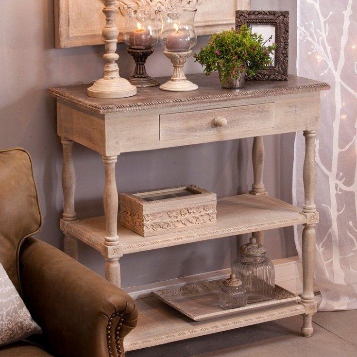Console en bois jardin d 39 ulysse jolie petite console avec 2 plateaux d coration int rieure - Meuble tv jardin d ulysse ...