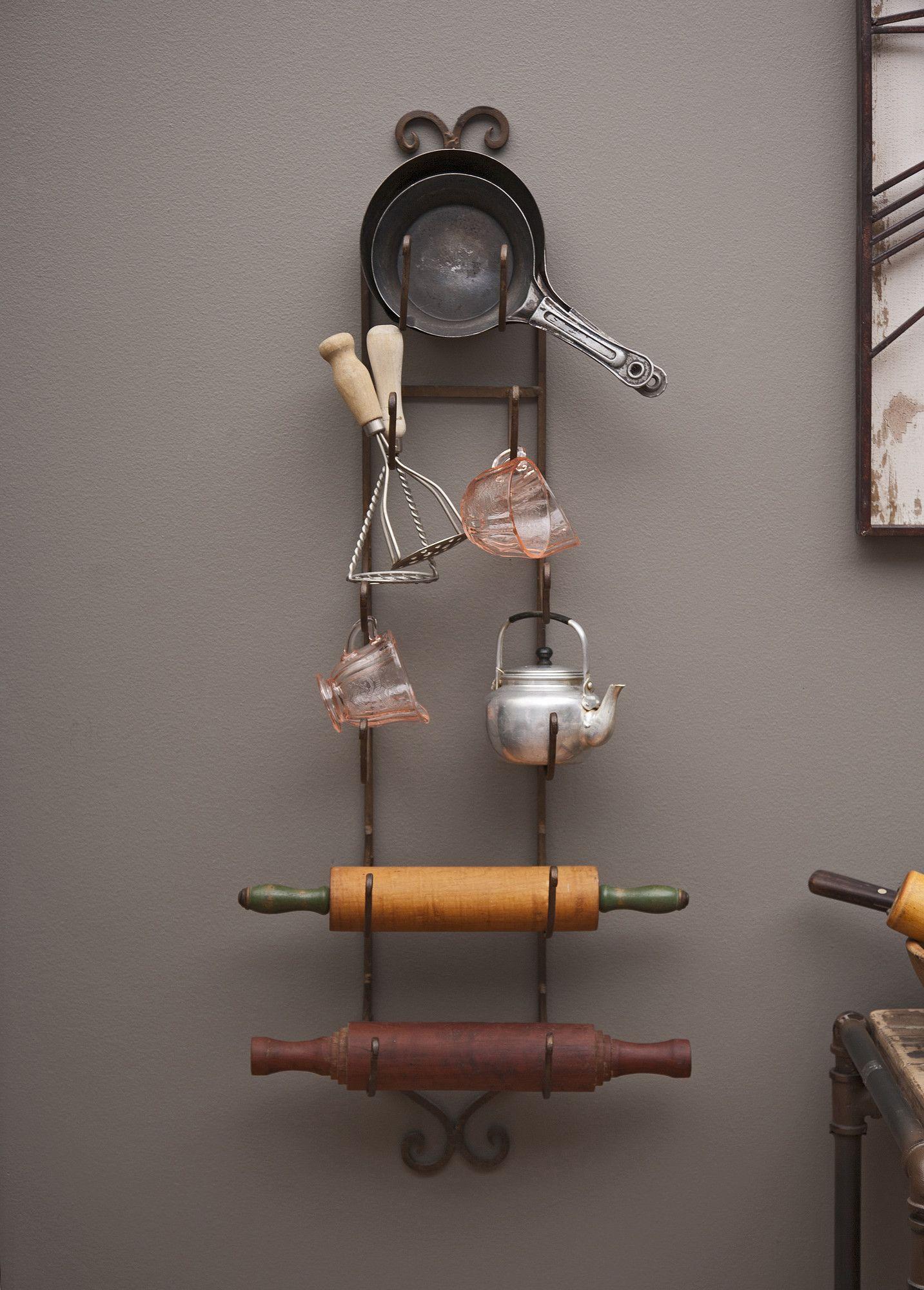 Rustic Iron Wall Rack