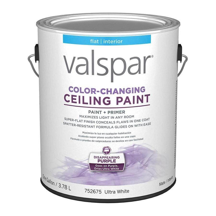 Valspar Ceiling Flat Ultra White Interior Paint Actual Net Contents 128 Fl Oz Lowes Com White Interior Paint Painted Ceiling Valspar Colors
