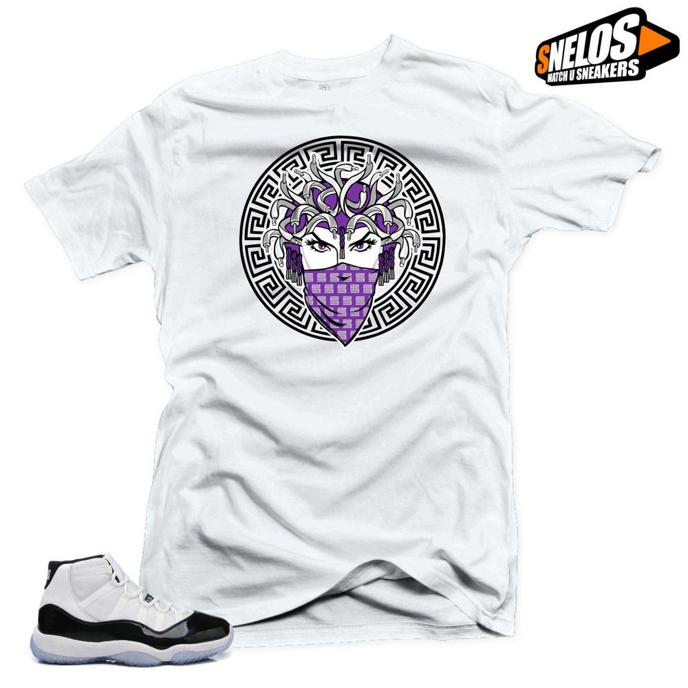 e48292f1c6e831 Shirt to Match Jordan 11 Concord-Medusa 45 White Tee  SNELOS   PersonalizedTee