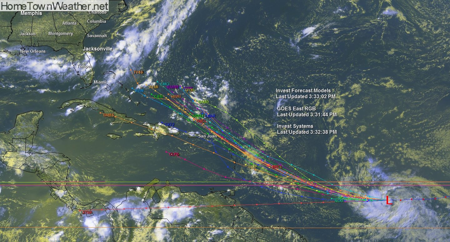 Invest 93 2 Pm Update Tuesday Www Hometownweather Net Investing Weather Hurricane Weather
