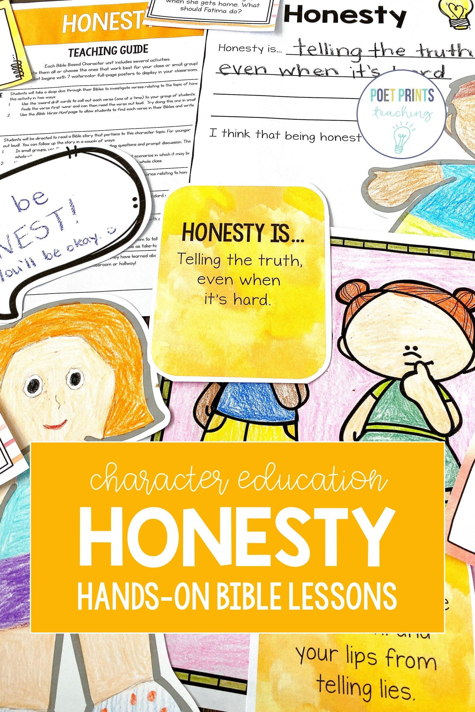 Honesty Bible Based Character Education Lessons In