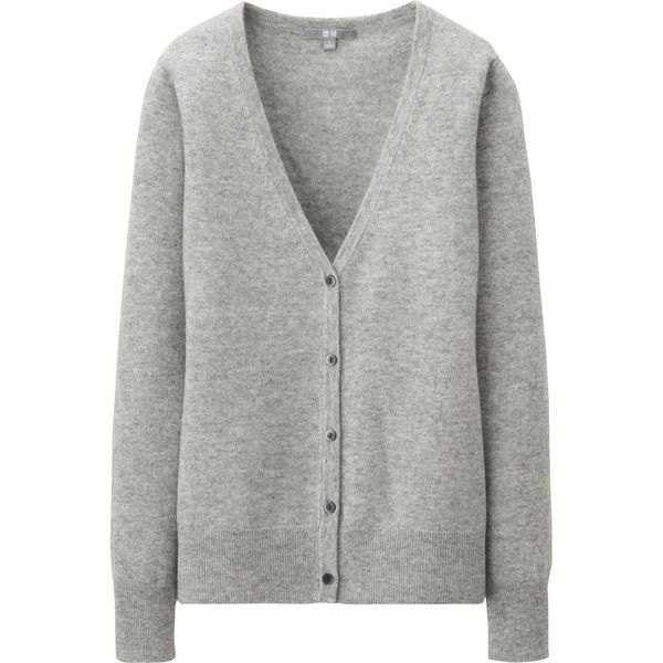 UNIQLO Women Cashmere V Neck Cardigan (5.895 RUB) ❤ liked on ...