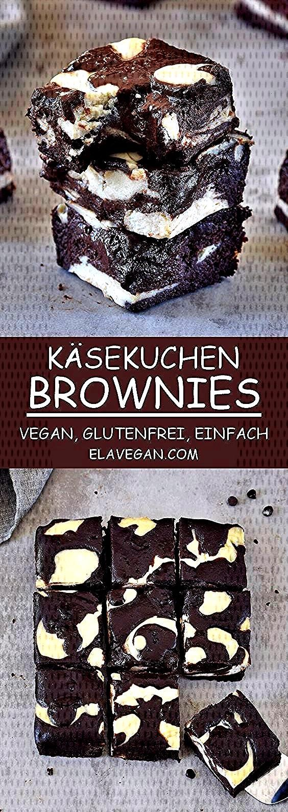 Diese veganen Käsekuchen Brownies sind saftig, schokoladig und fudgy. Das Rezept ist pflanzlich (e