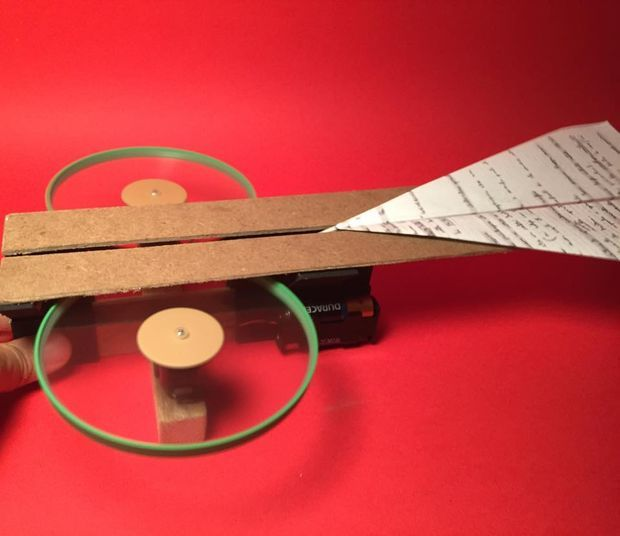 how to build a paper plane launcher