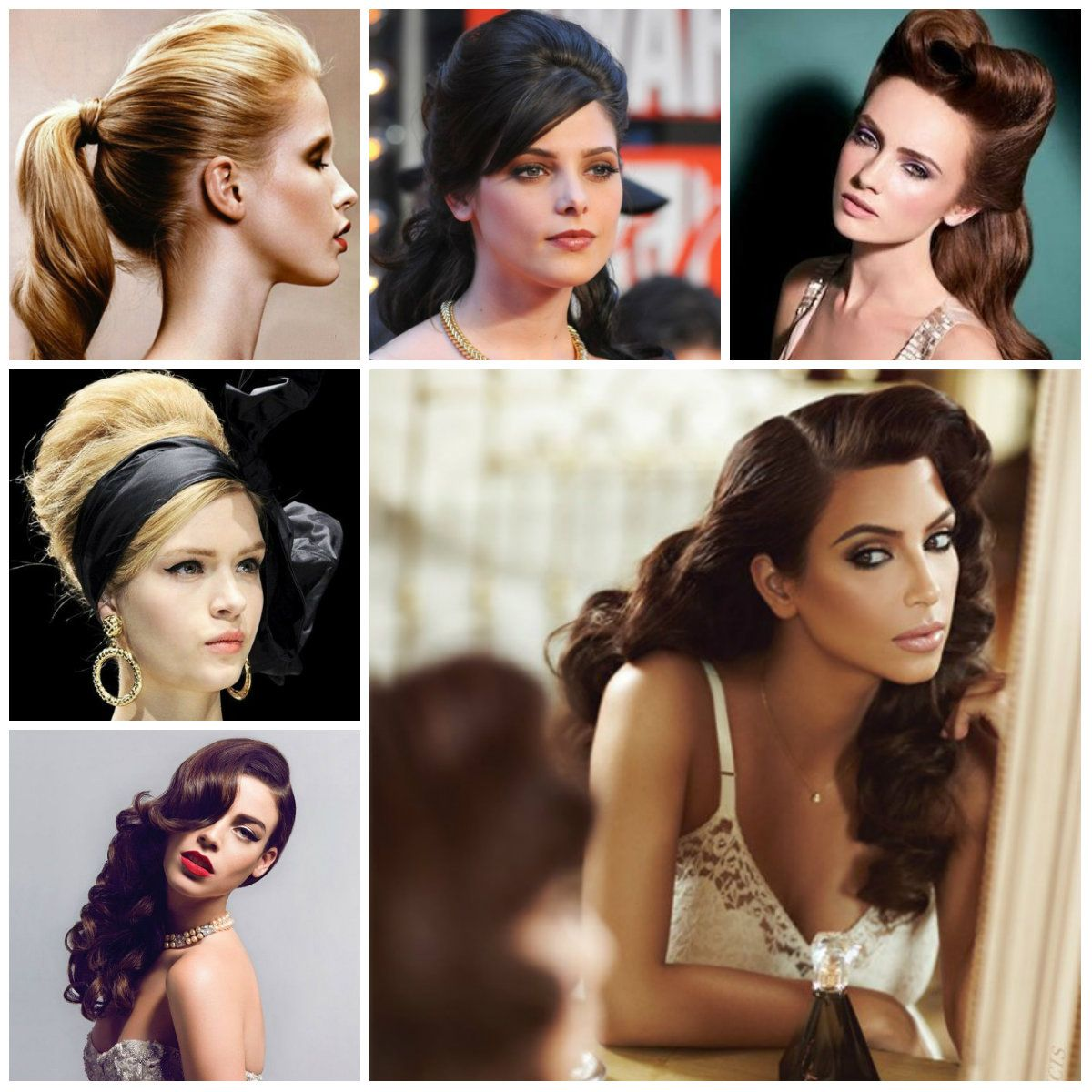 Retro Frisur Ideen für langes Haar 12  Frisur ideen, Lange