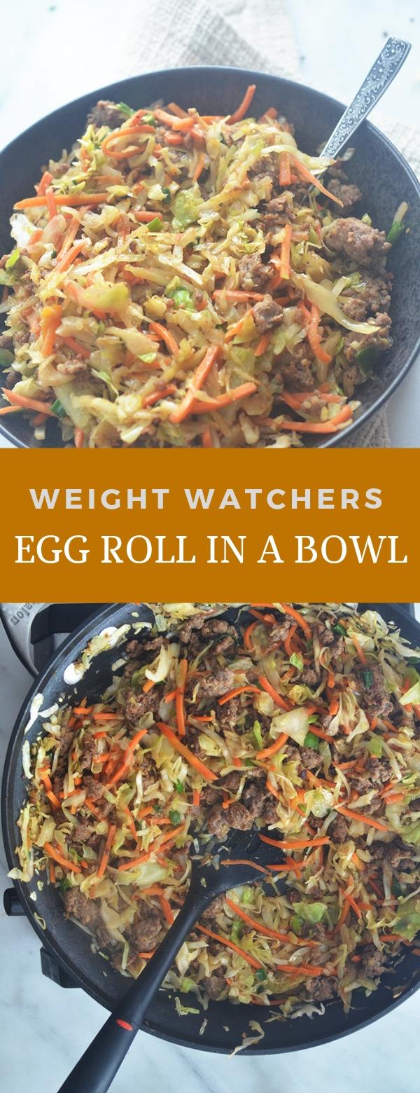 WEIGHT WATCHERS EGG ROLL IN A BOWL #WEIGHTWATCHERS #EGGROLL #DINNER #eggrollinabowl