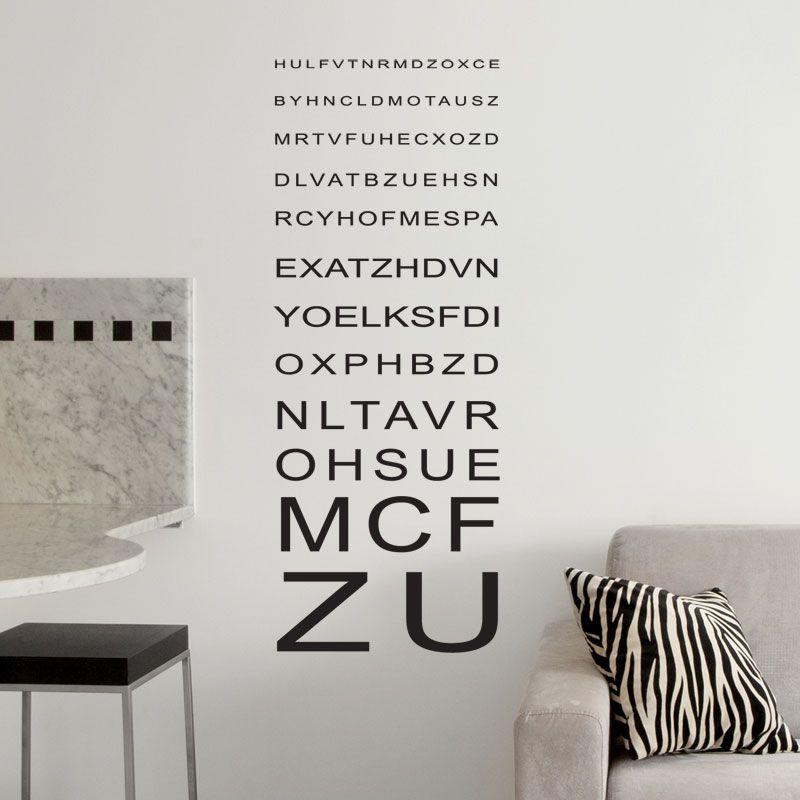 Stickers ophtalmo bonne vue décoration murale design gali art