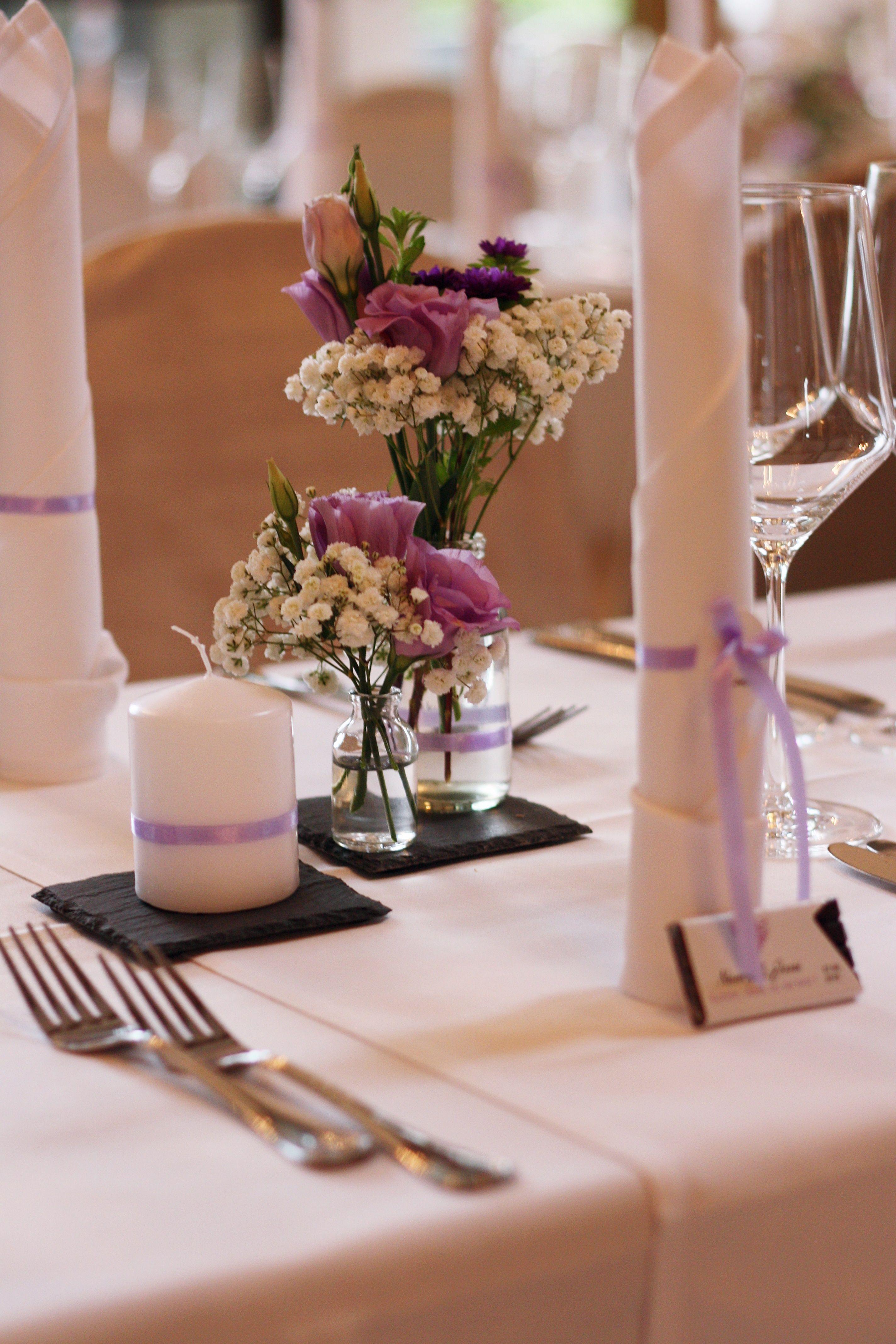 Tischdeko Hochzeitsdekoration Schiefer Schieferplatten