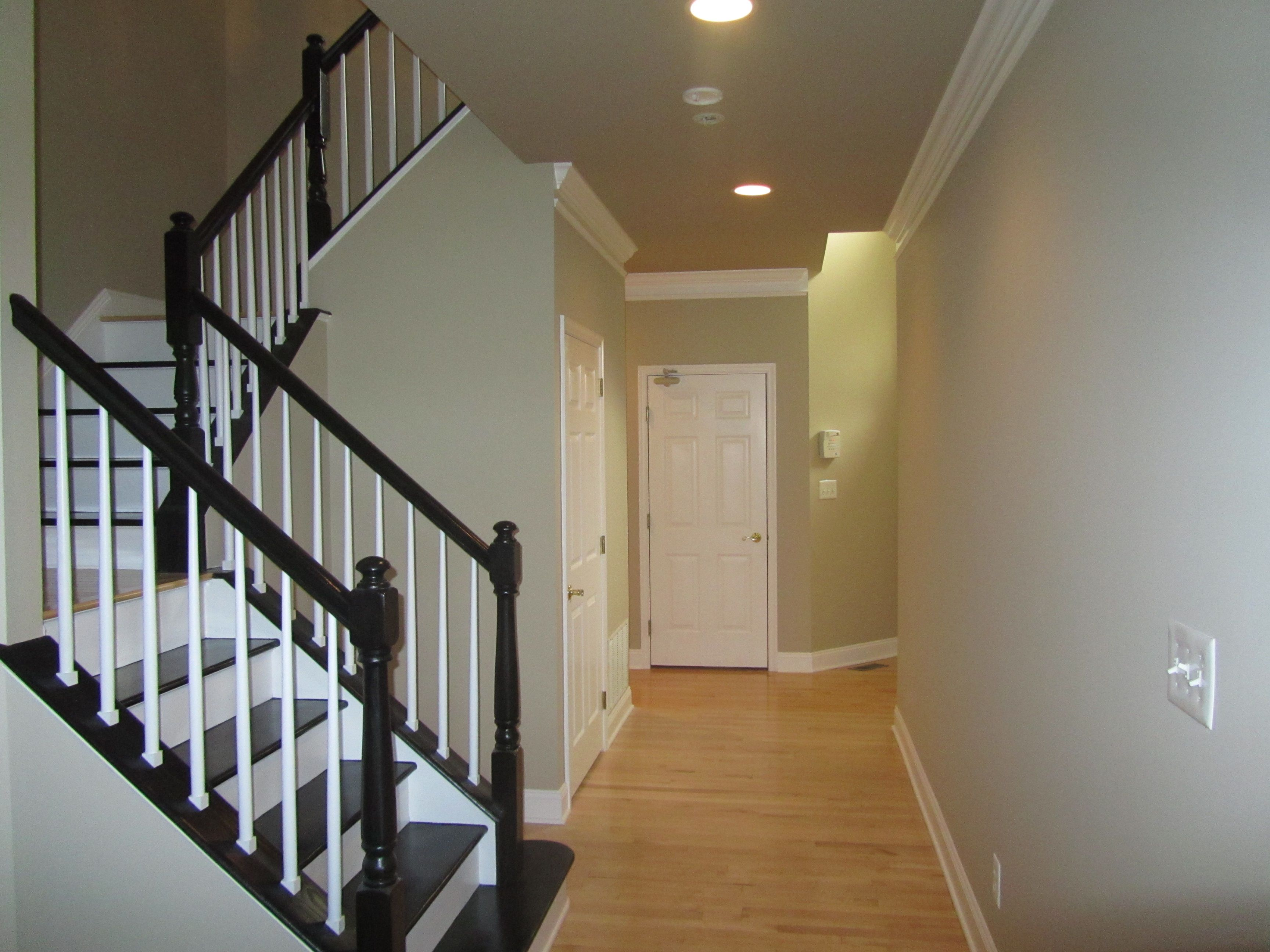 Best Stunning Black And White Staircase Just Painted With 400 x 300