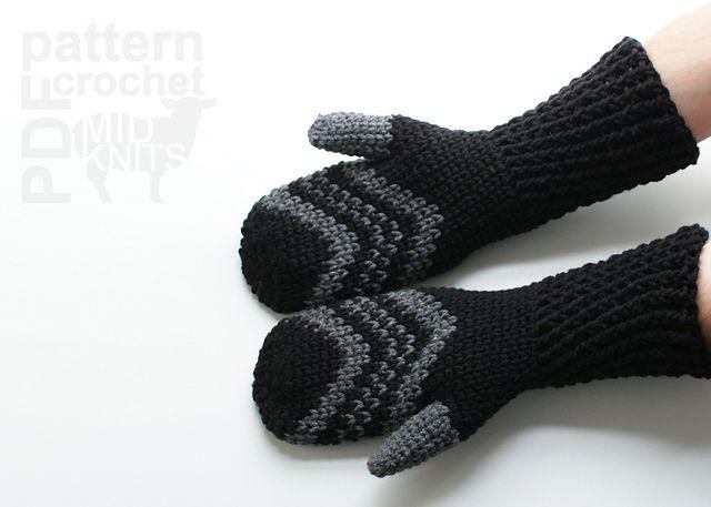 Fair Isle Crochet Chevron Mittens (2016004) pattern by Erin Black ...