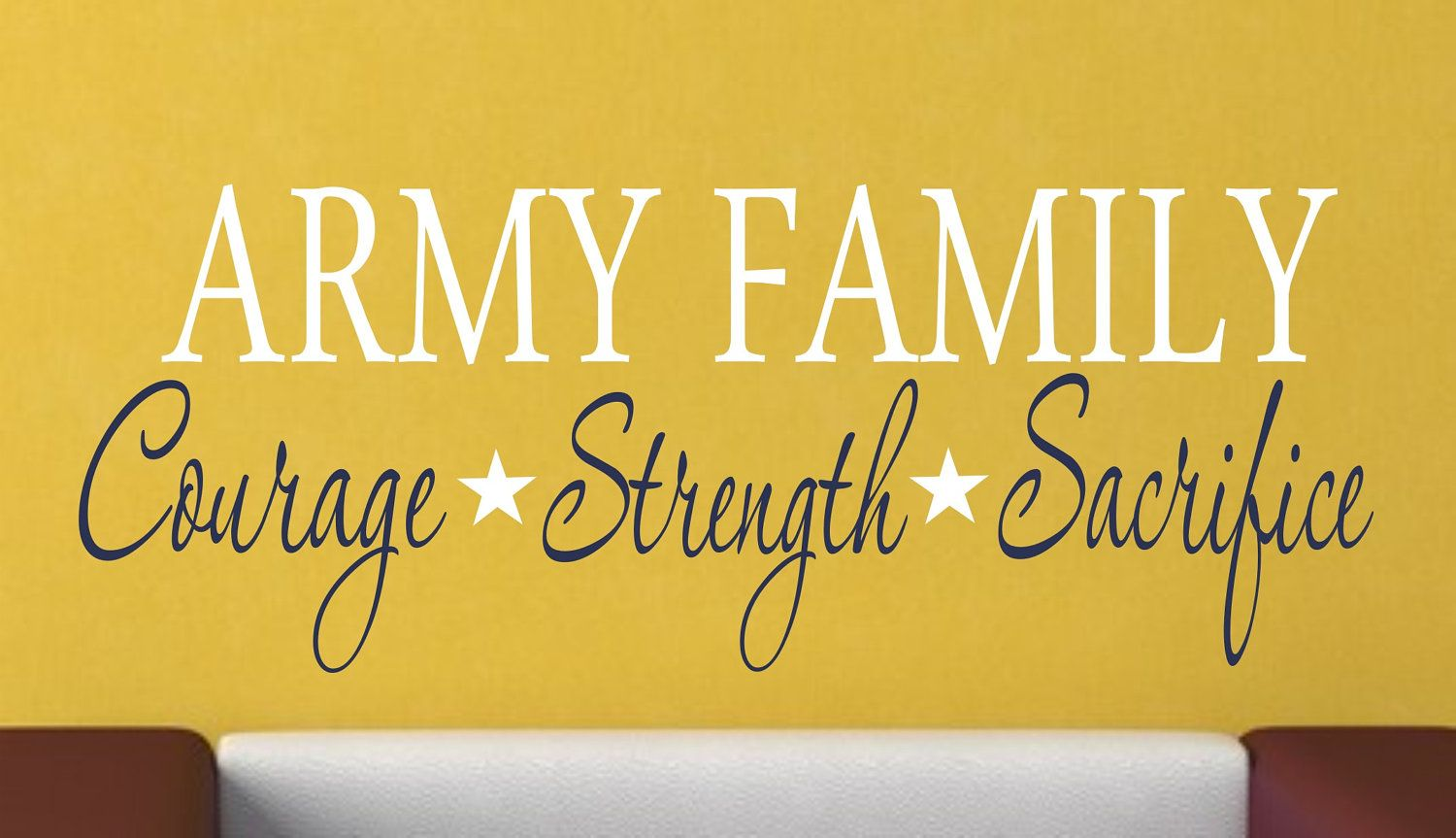 Military Family Vinyl Wall Decal - Military Decor - Vinyl Wall Art ...